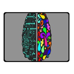 Emotional Rational Brain Double Sided Fleece Blanket (small)