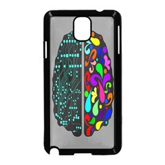 Emotional Rational Brain Samsung Galaxy Note 3 Neo Hardshell Case (black) by Alisyart