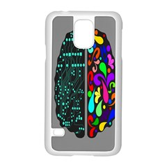 Emotional Rational Brain Samsung Galaxy S5 Case (white)