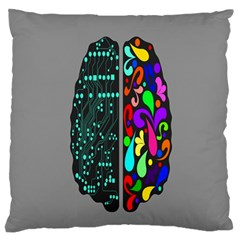 Emotional Rational Brain Large Flano Cushion Case (two Sides)