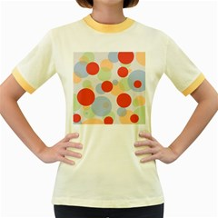 Contrast Analogous Colour Circle Red Green Orange Women s Fitted Ringer T Shirts