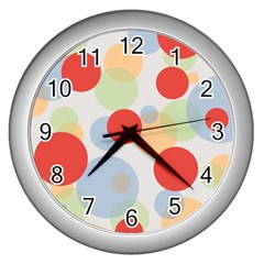 Contrast Analogous Colour Circle Red Green Orange Wall Clocks (silver)