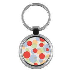 Contrast Analogous Colour Circle Red Green Orange Key Chains (round)  by Alisyart