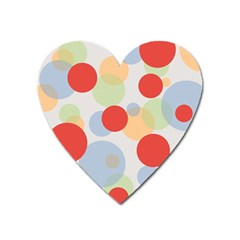 Contrast Analogous Colour Circle Red Green Orange Heart Magnet