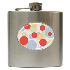 Contrast Analogous Colour Circle Red Green Orange Hip Flask (6 Oz) by Alisyart