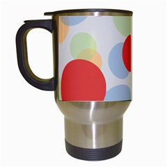 Contrast Analogous Colour Circle Red Green Orange Travel Mugs (white)