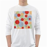 Contrast Analogous Colour Circle Red Green Orange White Long Sleeve T-Shirts Front