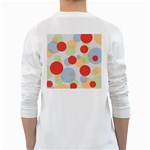 Contrast Analogous Colour Circle Red Green Orange White Long Sleeve T-Shirts Back