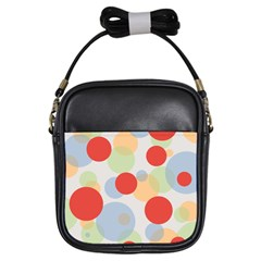 Contrast Analogous Colour Circle Red Green Orange Girls Sling Bags by Alisyart
