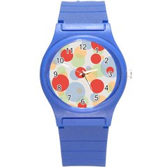 Contrast Analogous Colour Circle Red Green Orange Round Plastic Sport Watch (s) by Alisyart