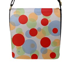Contrast Analogous Colour Circle Red Green Orange Flap Messenger Bag (l)  by Alisyart