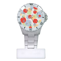 Contrast Analogous Colour Circle Red Green Orange Plastic Nurses Watch