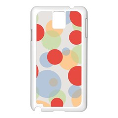 Contrast Analogous Colour Circle Red Green Orange Samsung Galaxy Note 3 N9005 Case (white)