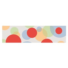 Contrast Analogous Colour Circle Red Green Orange Satin Scarf (oblong)