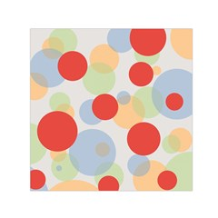 Contrast Analogous Colour Circle Red Green Orange Small Satin Scarf (square)