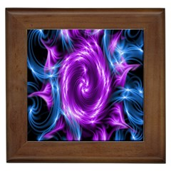 Colors Light Blue Purple Hole Space Galaxy Framed Tiles by Alisyart