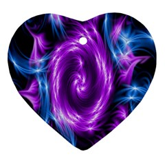 Colors Light Blue Purple Hole Space Galaxy Ornament (heart) by Alisyart