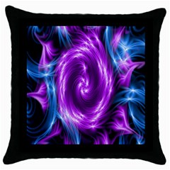 Colors Light Blue Purple Hole Space Galaxy Throw Pillow Case (black) by Alisyart