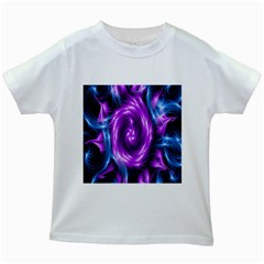 Colors Light Blue Purple Hole Space Galaxy Kids White T Shirts by Alisyart