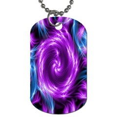 Colors Light Blue Purple Hole Space Galaxy Dog Tag (one Side) by Alisyart