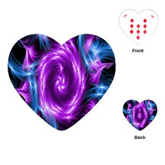 Colors Light Blue Purple Hole Space Galaxy Playing Cards (heart)  by Alisyart