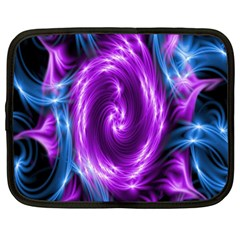 Colors Light Blue Purple Hole Space Galaxy Netbook Case (large) by Alisyart