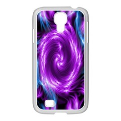 Colors Light Blue Purple Hole Space Galaxy Samsung Galaxy S4 I9500/ I9505 Case (white)