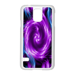 Colors Light Blue Purple Hole Space Galaxy Samsung Galaxy S5 Case (white)