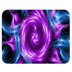 Colors Light Blue Purple Hole Space Galaxy Double Sided Flano Blanket (medium)  by Alisyart