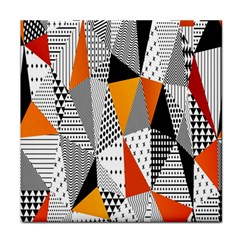 Contrast Hero Triangle Plaid Circle Wave Chevron Orange White Black Line Tile Coasters by Alisyart