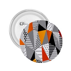 Contrast Hero Triangle Plaid Circle Wave Chevron Orange White Black Line 2 25  Buttons by Alisyart