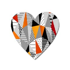 Contrast Hero Triangle Plaid Circle Wave Chevron Orange White Black Line Heart Magnet