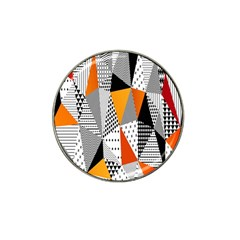 Contrast Hero Triangle Plaid Circle Wave Chevron Orange White Black Line Hat Clip Ball Marker (4 Pack)
