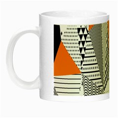 Contrast Hero Triangle Plaid Circle Wave Chevron Orange White Black Line Night Luminous Mugs