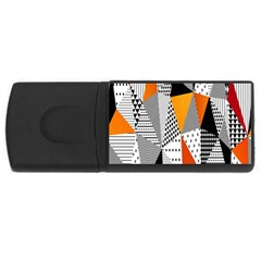 Contrast Hero Triangle Plaid Circle Wave Chevron Orange White Black Line Usb Flash Drive Rectangular (4 Gb)