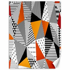 Contrast Hero Triangle Plaid Circle Wave Chevron Orange White Black Line Canvas 12  X 16   by Alisyart