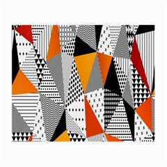 Contrast Hero Triangle Plaid Circle Wave Chevron Orange White Black Line Small Glasses Cloth (2 Side)