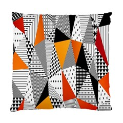 Contrast Hero Triangle Plaid Circle Wave Chevron Orange White Black Line Standard Cushion Case (one Side)