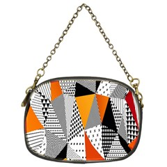 Contrast Hero Triangle Plaid Circle Wave Chevron Orange White Black Line Chain Purses (two Sides)  by Alisyart