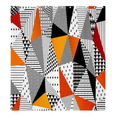 Contrast Hero Triangle Plaid Circle Wave Chevron Orange White Black Line Shower Curtain 66  X 72  (large)
