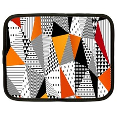 Contrast Hero Triangle Plaid Circle Wave Chevron Orange White Black Line Netbook Case (xxl)  by Alisyart