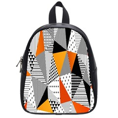 Contrast Hero Triangle Plaid Circle Wave Chevron Orange White Black Line School Bags (small)  by Alisyart