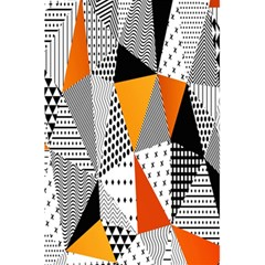 Contrast Hero Triangle Plaid Circle Wave Chevron Orange White Black Line 5 5  X 8 5  Notebooks by Alisyart