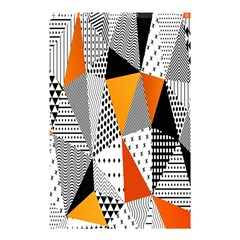 Contrast Hero Triangle Plaid Circle Wave Chevron Orange White Black Line Shower Curtain 48  X 72  (small)