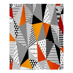 Contrast Hero Triangle Plaid Circle Wave Chevron Orange White Black Line Shower Curtain 60  X 72  (medium)