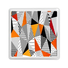 Contrast Hero Triangle Plaid Circle Wave Chevron Orange White Black Line Memory Card Reader (square)