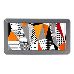 Contrast Hero Triangle Plaid Circle Wave Chevron Orange White Black Line Memory Card Reader (mini)
