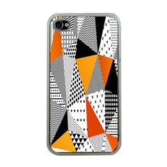 Contrast Hero Triangle Plaid Circle Wave Chevron Orange White Black Line Apple Iphone 4 Case (clear) by Alisyart