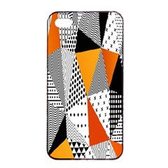 Contrast Hero Triangle Plaid Circle Wave Chevron Orange White Black Line Apple Iphone 4/4s Seamless Case (black) by Alisyart