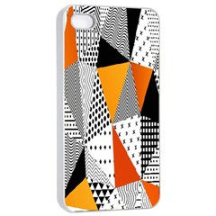 Contrast Hero Triangle Plaid Circle Wave Chevron Orange White Black Line Apple Iphone 4/4s Seamless Case (white)
